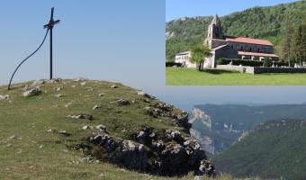Randonnée et tourisme à la journée entre Vercors et pays de Savoie Le plateau d'Ambel l'abbaye de Léoncel et la fromagerie.